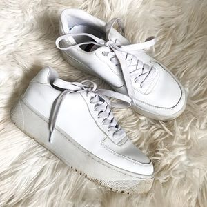 Jeffrey Campbell Vegan Leather White Sneakers
